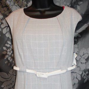 Connected Apparel Gray Plaid Dress